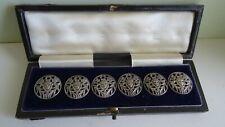 More details for antique silver 6 buttons, foliate & face  levi & salaman, birmingham 1900's