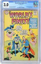 World's Finest #113 (1960) CGC 3.0 KEY 1st Bat-Mite & Mr. MXYZPTLK Team-up Issue
