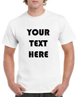 PERSONALIZED CUSTOM PRINT YOUR OWN TEXT ON T-SHIRT CUSTOMIZED TEE MEN'S FASTSHIP