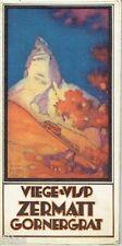 Gornergrat-Bahn Viege Visp Zermatt Gornergrat Alpen Schweiz Karte um 1927