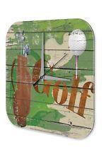Nostalgique Horloge murale Platine Murale  Golf Ball Racket Bag Acrylglas