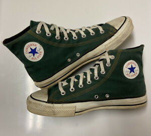 Vintage Chuck Taylor Mens Sz 10 Converse All Star High Sneakers USA MADE Green