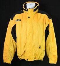 Vintage Spyder Mens XL Yellow Hidden Hood Snowboarding Ski Winter Jacket