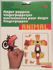 Colour Your Own - Animal - Finger Puppets - Brand New