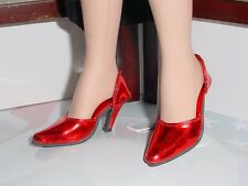 Doll Shoes, 42mm METALLIC RED Easy to Wear for Sybarite, MA Alex