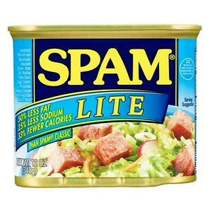Spam Luncheon Meat Lite 12 oz ( Pack of 6 )