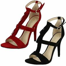Stiletto Strappy, Ankle Straps Suede Shoes for Women