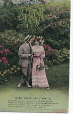 Vintage Postcard (1913) - When We're Together (3) - Posted 0796