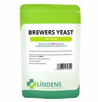 Brewer's Yeast 300mg 2-PACK 1000 Tablets Vitamin B B1 B2 B5 B6 Probiotic Biotin