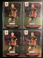 2016 Prizm Euro Cup Eden Hazard Lot (4) Belgium Real Madrid - Chelsea Legend 💫
