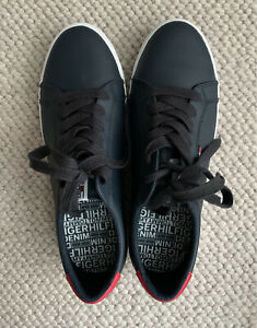 Tommy Hilfiger Denim Leather/PU Midnight Blue Lace Up Sneaker Shoes Size 41