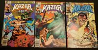 KAZAR THE SAVAGE (1981) LOT 3 4 29 ~NEWSSTAND EDITIONS ~MARVEL COMICS!
