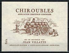 Etiquette de Vin - Beaujolais - Chiroubles - Jean.Villatte -  Réf.n°186