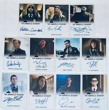 2020 Rittenhouse The Umbrella Academy Set of 11 Autograph Cards