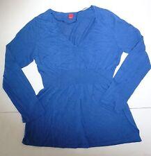 *NWT* ESPIRIT WOMENS  V-NECK LONG SLEEVES TOP BLUE SIZE MEDIUM T33