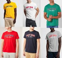 Gant Men Crew neck Short Sleeve Cotton Jersey Summer Logo Print T shirt Tee