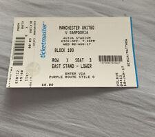 Sampdoria Manchester United Man Utd 17/18 Ticket (Dublin)