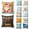 18'' Letter Christmas Throw Pillow Case Cushion Cover Sofa Bed Xmas Decor Grand