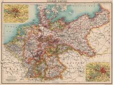 GERMAN EMPIRE. states. Germany. Prussia. Hamburg Berlin. BARTHOLOMEW 1901 map