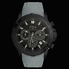 s.Oliver Multifunktion Herren Armband Uhr Schwarz Grau Dualtimer