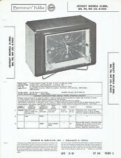 ORIGINAL 1956 Crosley Receiver/Clock JC-8BK srvc Manual PHOTOFACT SCHEMATIC /157
