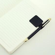 1PCS Black Self-adhesive Leather Pen Holder Clips Elastic Bandages for Notebooks