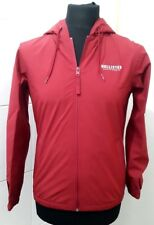Hollister Unisex Hooded Soft Shell Bomber Jacket Red - XS