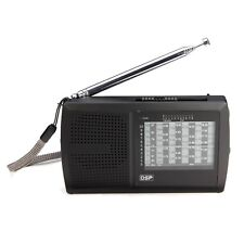 New Compact Portable FM Stereo MW SW Shortwave Radio DSP World Band Receiver