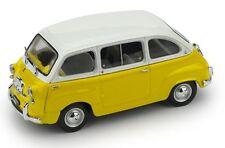 FIAT 600D MULTIPLA 196O NUOVO COLORE: BIANCO-GIALLO  BRUMM R333-10