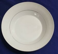 """Vintage BRENTWOOD Fine China WHITE LACE 9.5"""" SERVING Bowl"""