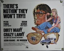 DIRTY MARY CRAZY LARRY ROLLED ORIG HALF-SHEET MOVIE POSTER PETER FONDA (1974)