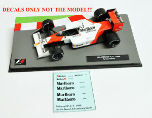 DECALS Ayrton Senna 1988 McLaren MP 4-4 Marlboro 1:43 Formula 1 Car Collection