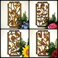 Vintage Four Seasons MCM 50S ART Wall Golden RoCoco Plaques USA Floral CMAS