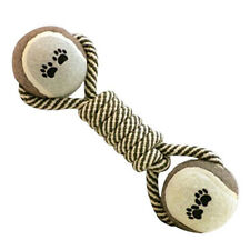 Dumbbell Rope Tennis Pet Chew Toy Puppy Dog Clean Teeth Training Tool