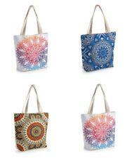 Tonal Patterned Design Canvas Lightweight Tote Bag Shopper Shoulder Beach *SALE*