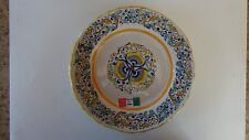 "Meridiana Ceramiche 8"" Sandwich/Luncheon Plate (Pre-Owned; Never Used)"