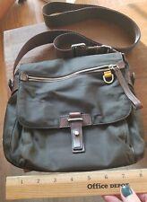 EUC Tumi Crossbody Shoulder Bag Brown Nylon, leather silver Hardware