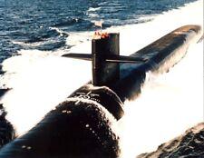 USS Alabama SSGN-731 submarine cruises on surface of ocean Photo Print