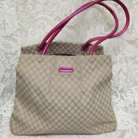Celine, Paris, Italy Cream Mono Handbag-Shoulder Bag 12in x 10in x 6in