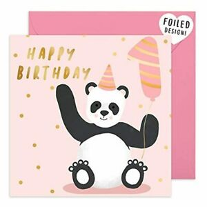 Central 23 - Cute 1st Birthday Card - Pink Happy Birthday Card for Girls - Sweet