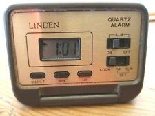 "Linden Pocket-Sized Travel Alarm Clock~Digital Display~""Aa"" Battery Included"