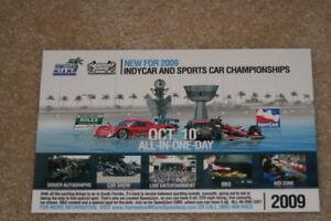 2009 Scott Dixon Homestead Miami Speed Jam Indy Car postcard