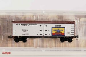 MTL Z Scale Micro-Trains 518 00 300 Senate Brewing Company 40' Wood Reefer MIB