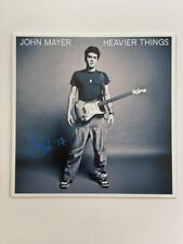 JOHN MAYER SIGNED AUTOGRAPH ALBUM VINYL RECORD - HEAVIER THINGS VERY RARE! ACOA