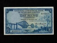 Scotland:P-265,1 Pound,1959 * National Commercial Bank of Scotland Ltd * EF *