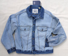 LEVIS Made Crafted Big E About Face Trucker Jean Jacket Vintage Look Blue Denim