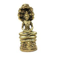 Lord Vishnu Narayana Statue Seated on Naga Hindu God of Protector Religious Idol