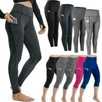 2020 Womens Sports Yoga Leggings Workout Gym Fitness Stretch Pants with Pockets