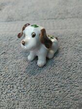 Vintage Porcelain Miniature Dog Figurine Hand Painted