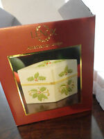 """LENOX CHRISTMAS HOLLY BERRY PORCELAIN TRINKET JEWELRY BOX 3"""" TALL NEW IN BOX"""